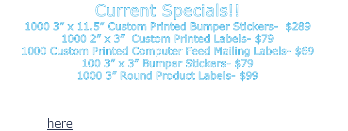 Contact us at (407) 948-6973 Or click here to email Sales@CentralFloridaLabelWorks.com